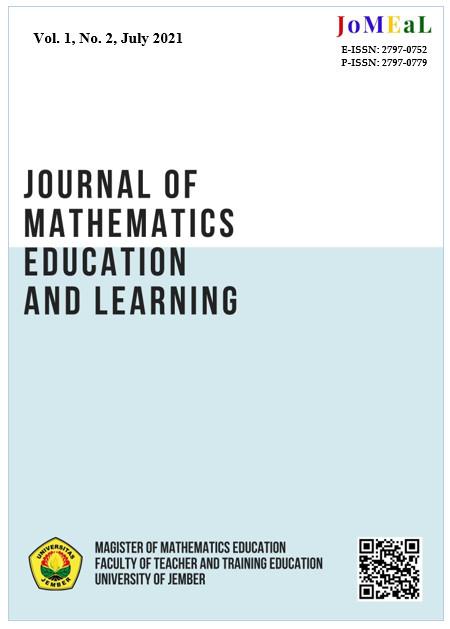 Vol. 1, No. 1 (2021): Jorunal of Mathematics Education and Learning