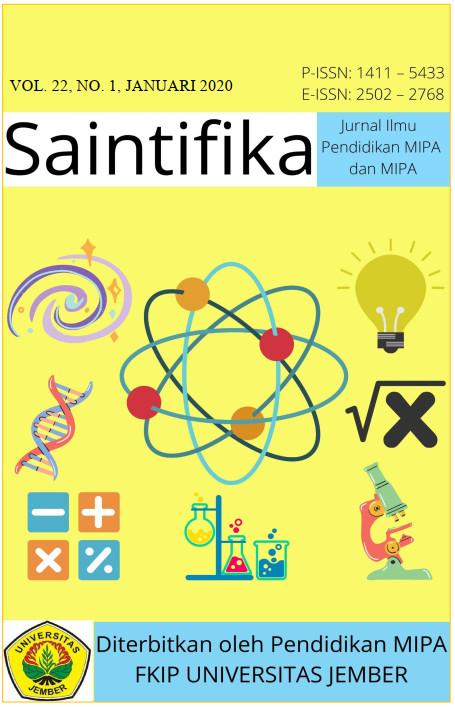 Cover Jurnal Saintifika Vol. 22, No. 1. Januari 2020