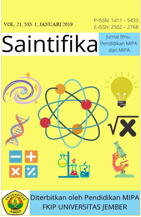 Cover Jurnal Saintifika Vol. 21, No. 1. Januari 2019