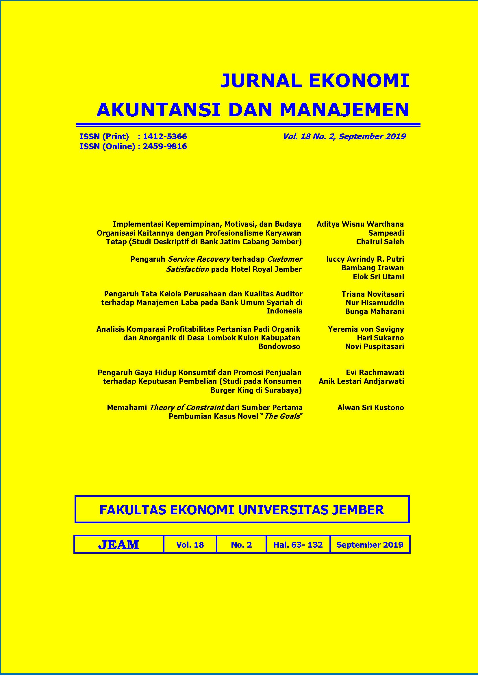 Pengaruh Gaya Hidup Konsumtif Dan Promosi Penjualan Terhadap Keputusan Pembelian Jurnal Ekonomi Akuntansi Dan Manajemen