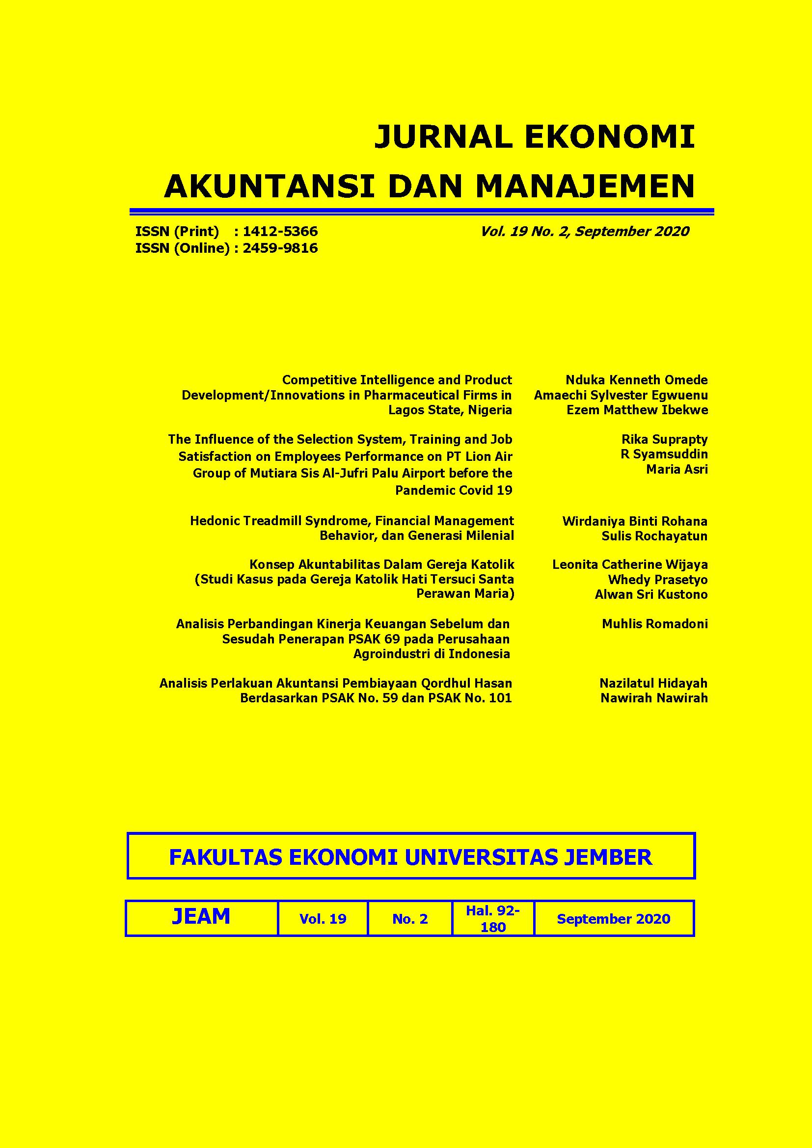 Jurnal Ekonomi Akuntansi Dan Manajemen