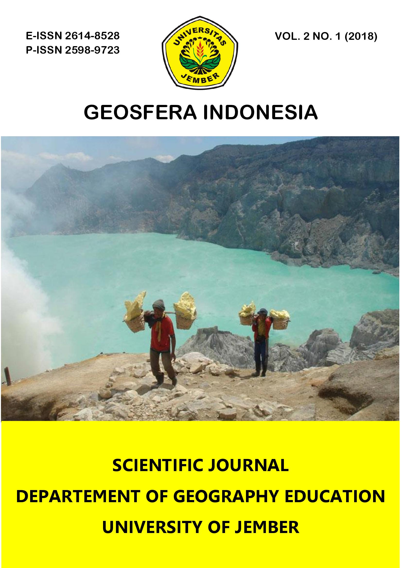 Vol 2 No 1 (2018): GEOSFERA INDONESIA